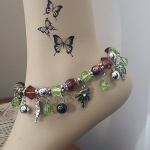 💥4/$20 Beaded Stretch Charm Ankle Bracelet